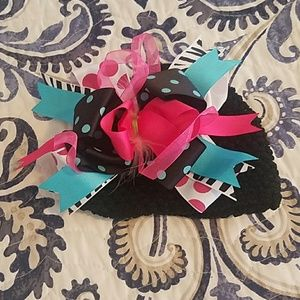 Other - Black hat and bow attached for babygirl